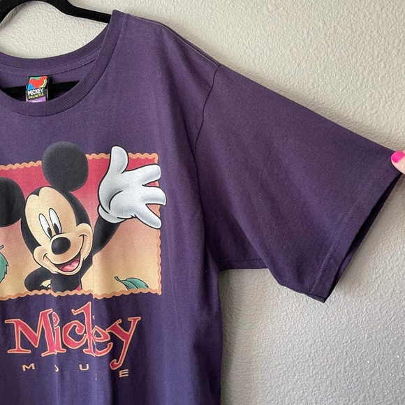 Mickey Mouse Tops - Vintage Mickey Mouse Crew Neck Oversize Tee 1X